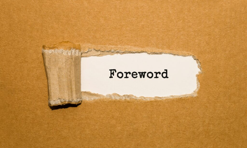 how to write a foreword